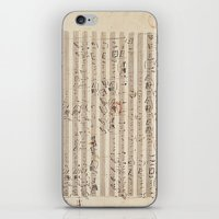 mozart iPhone & iPod Skins featuring Mozart by Le petit Archiviste