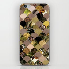 Autumn Scalloped Pattern iPhone Skin