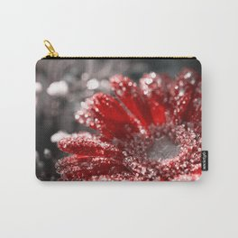 Melting red daisy Winterblossom - Flower and ice Carry-All Pouch