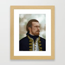 100817-no scar Framed Art Print