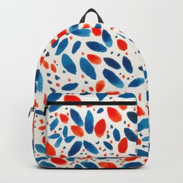 Red Blue Wreath Backpack