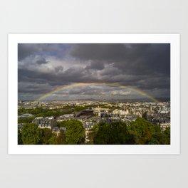 Promise over Paris Art Print
