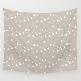 Modern Farm House Polka Dots Beige Wall Tapestry