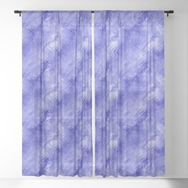 Blue Crystal Gel Glassy Abstract Pattern Sheer Curtain