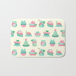 Choco Mint Rabbit Bath Mat