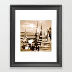 Wat Po a beautiful temple in Thailand (Bangkok & Travel) - Thai Massage School Framed Art Print