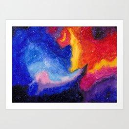Watercolor Galaxy 1 Art Print