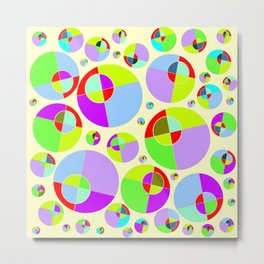 Bubble yellow & purple 10 Metal Print