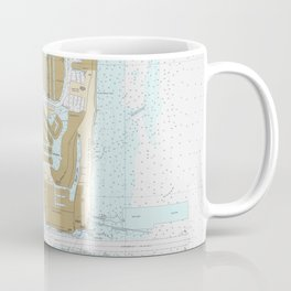 Map of Fort Lauderdale FL (1991) Coffee Mug