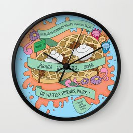 Friends, Waffles, Work Wall Clock