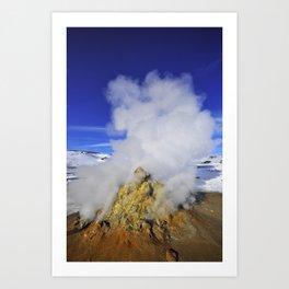 Volcanic thermal vent, Iceland Art Print