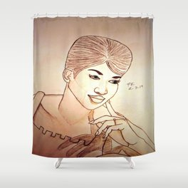 Aretha Franklin by Double R Shower Curtain