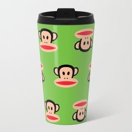 Julius Monkey Pattern by Paul Frank - Green Travel Mug