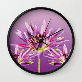 Lotos Flowers violet II Wall Clock
