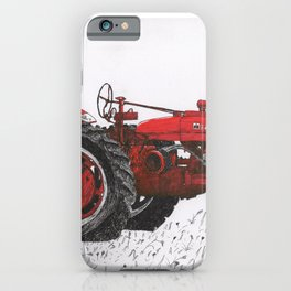 Farmall Super M, International Harvester Tractor Drawing iPhone Case
