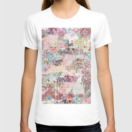 Las Vegas map Nevada T-shirt