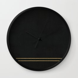 Black Velvet with Gold Lines Wall Clock
