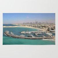 marina Area & Throw Rugs featuring Dubai - Marina by Art-Motiva