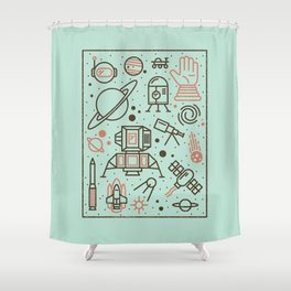 Cosmic Frontier  Shower Curtain
