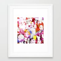ultraviolence Framed Art Prints featuring Ultraviolence by Kat Heroine