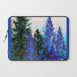 BLUE-GREEN MOUNTAIN FOREST LANDSCAPE Laptop Sleeve