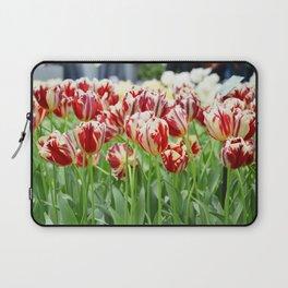Striped tulips Laptop Sleeve