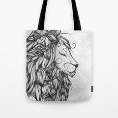 Poetic Lion B&W Tote Bag