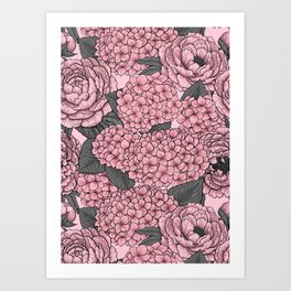 Floral bouquet in pink Art Print