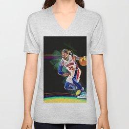 Detroit Basketball Star D. Rose / Slam Dunk / Art Print Unisex V-Neck