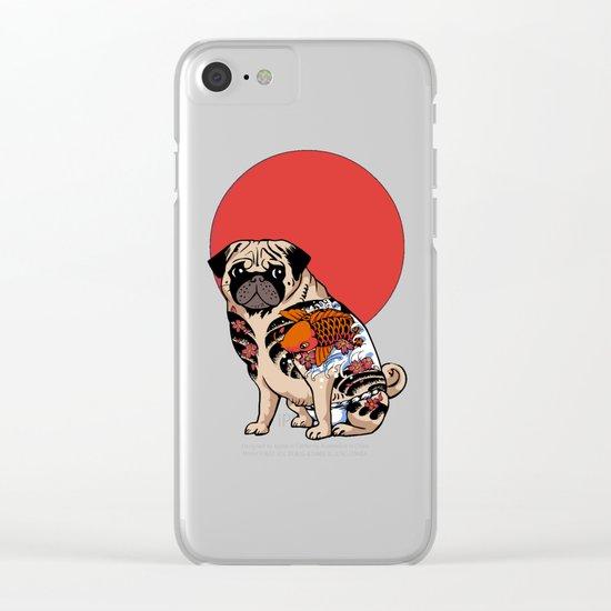 Yakuza Pug Clear iPhone Case