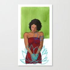 Amarican Lotus Canvas Print