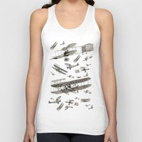 airplanes Tank Tops featuring airplanes 2 by Кaterina Кalinich