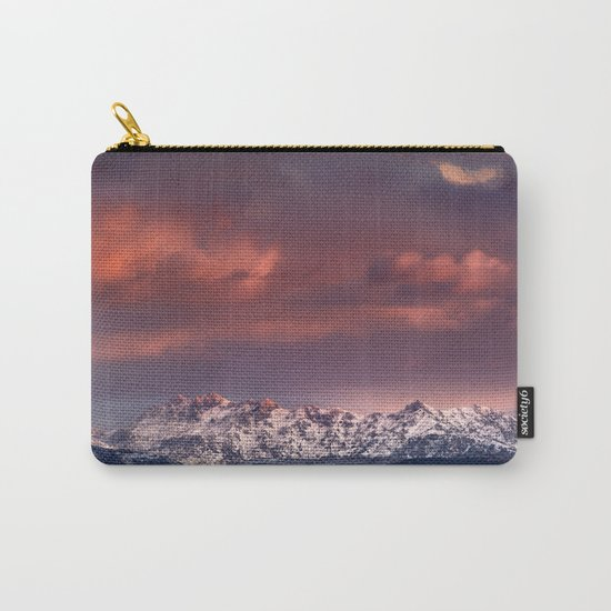 """Mysterious mountains"""". Sunset at the mountains. Carry-All Pouch"""