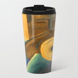 The Trumpet Player Metal Travel Mug