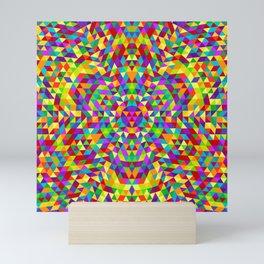 Happy triangle mandala 2 Mini Art Print