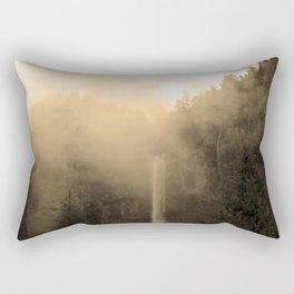 Foggy Multnomah Falls Rectangular Pillow