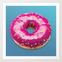 Lowpoly Donut Art Print