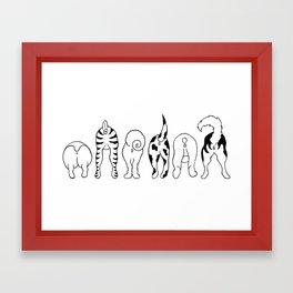 Dog Butts Framed Art Print