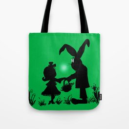 Silhouette Easter Bunny Gift Tote Bag