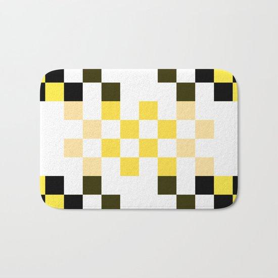 Yellow Pixel Bath Mat