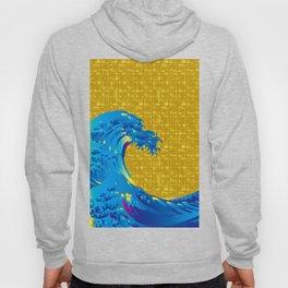 Hokusai Big Wave on Gold-leaf Screen Hoody