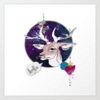Hell Oh Deer! Art Print