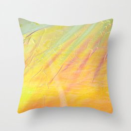 Abstract sunset - yellow, orange and blue - Throw Pillow