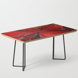 Abstract Poinsettia Coffee Table