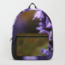 Lavender purple flower plant Backpack