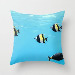 Moorish Idol Fish Throw Pillow