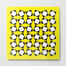 Geometric Pattern 150 (Yellow Squares) Metal Print
