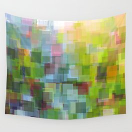 Abstract Grassy Field Wall Tapestry