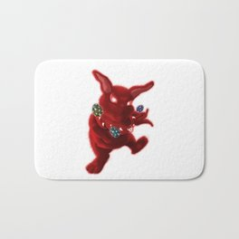 Easter Evil Bunny Bath Mat