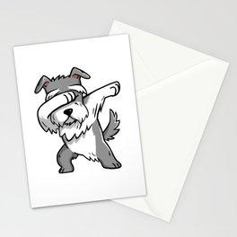 Funny Schnauzer Dabbing Stationery Cards